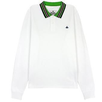Vivienne Westwood Ls Polo Stripe Kraag Wit
