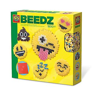 SES Creative Children's Beedz Emoticons 1800 Iron-on Beads Mosaic Set Mixed 6231