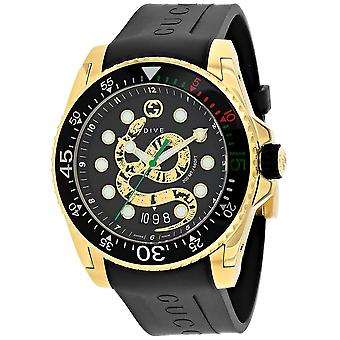 Gucci Men's Dive Black Dial Watch - YA136219