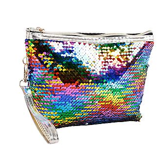 Homemiyn Sparkly Sequin Makeup Bag Storage Bag