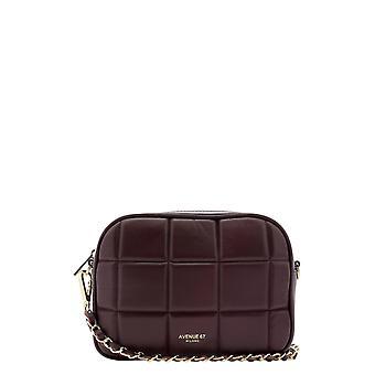 Avenue 67 Cloe60 Women's Burgundy Leather Shoulder Bag