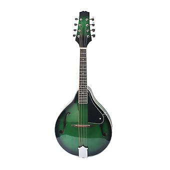 8 String Basswood Delicate Green Mandolin Instrument