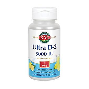 Kal Ultra D-3, 5,000 IU, 120 Softgels