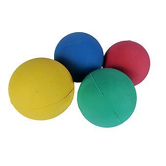 Hyfive chien brillant aller chercher des boules de caoutchouc rebondissant flottant pour l'entraînement pack de couleurs mixtes de 4