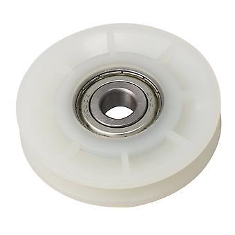 Roue de câble de traction de rainure blanche crémeuse pour équipement de gymnastique 60x12mm