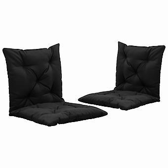 vidaXL sedia a dondolo edizioni 2 pezzi. tessuto nero da 50 cm