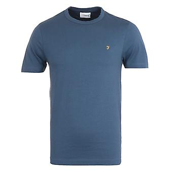 Farah Danny Organic Cotton T-Shirt - Deep Blue