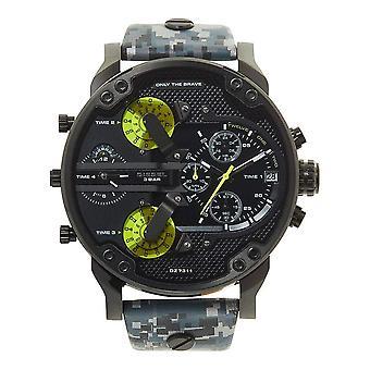 Diesel DZ7311 Mr Daddy 2.0 Black & Grey Leather Chronograph Men's Watch