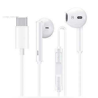 """אוזניות סטריאו מסוג C USB Huawei CM33 - לבן (הערה: אין שקע 3.5 מ""""מ)"""