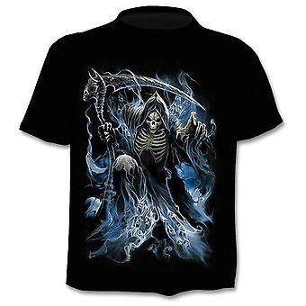 3d Drukowane Punk Style Top Tees Skull Gothic Tshirt /kobiety