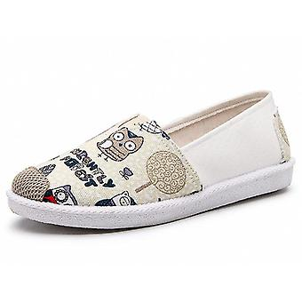 Outono Mulheres Sapatos, Comfort Flat Plataforma Creepers, Slip On Shoes Mulheres