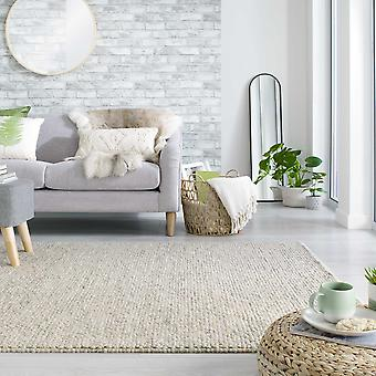 Minerals Cobble Wool Rugs In Light Grey