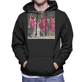 Bridesmaids Bridal Party Wacky Wedding Photo Men's Hooded Sweatshirt