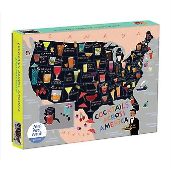 Cocktail Map Of The USA 1000 Piece Puzzle by McMenemy & Sarah
