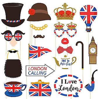 Amosfun british photo booth props funny british party props uk england selfie props for british lond
