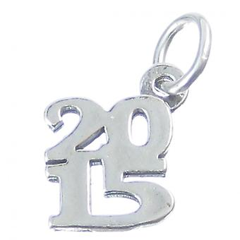 2015 Year Sterling Silver Charm .925 X 1 Anniversary Birthday Charms - 4192