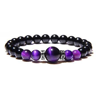 Natural Stone Bracelets, Men Royal Blue Tiger Eye Bracelet, Healthy Energy