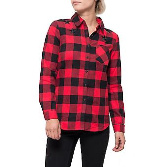 Checked Long Sleeve Shirt Western Style - Red & Black