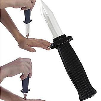 مضحك خدعة البلاستيك وهمية الربيع - سكين قابل للسحب تستخدم لأصدقاء الحمقى