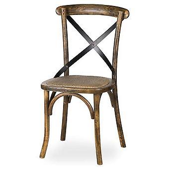 Hill Interiors Cross Oak Dining Chair