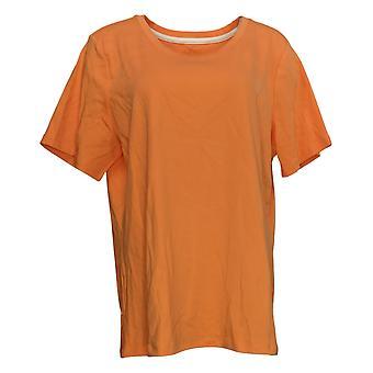 Isaac Mizrahi Live! Women's Top Essentials T-Shirt Orange A379429