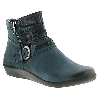 Earth Spirit fairfax leather womens ladies ankle boots navy UK Size