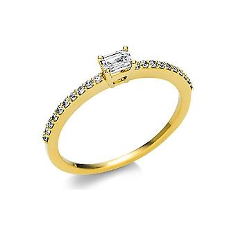 Luna Creation Promessa Solitairering with side trim 1U619G854-7 - Ring width: 54