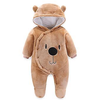 طفل رومبرز معطف طويل الأكمام jumpsuit، رومبرز الدافئة حديثي الولادة