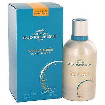 Comptoir Sud Pacifique Vanille Ambre Eau De Toilette Spray By Comptoir Sud Pacifique 3.3 oz Eau De Toilette Spray