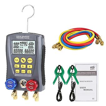 Pressure gauge refrigeration digital vacuum manifold tester heating ventilation and air conditioning temperature valve kit