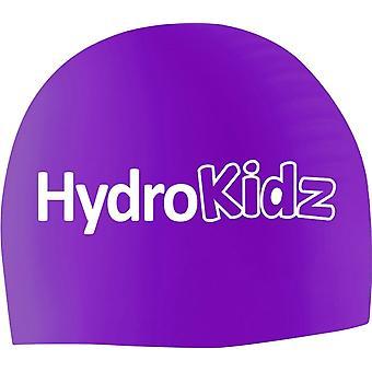 HydroKidz Children's Silicone Swim Caps -Purple