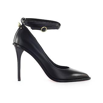 Pinko Garcia Black Leather Pump