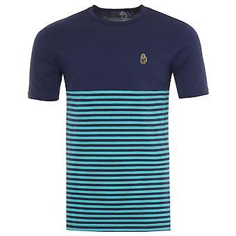 Luke 1977 Low Breton Stripe Crew Neck T-Shirt - Patriot Blue