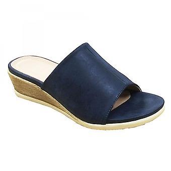 Cipriata Dantina Ladies High Wedge Mule Sandals Marine