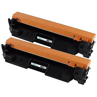 2 Go Bläck Svart Laser Toner Patroner för att ersätta HP CF217A (17A) Kompatibel / icke-OEM för HP Laserjet Pro Skrivare