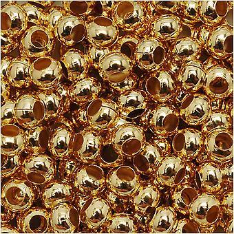 Aidot metalliset siemenet 6/0 24KT kullattu 30 grammaa