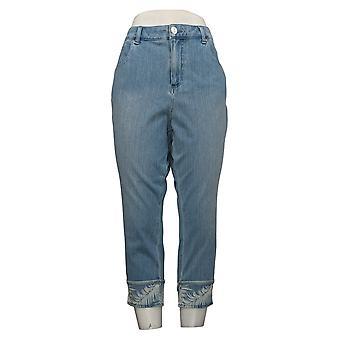 Belle by Kim Gravel Women's Jeans Flexibelle Hem Cropped Blue A394071