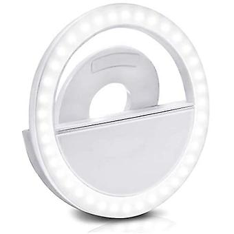 Led Selfie Light For   Smartphones Rechargeable Selfie Clip Light Clip Ring Dimmable