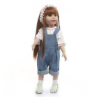 Långt hår dressing söt prinsessa docka 18 tums docka tjej leksak gåva