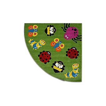Rug PAINT cerchio G4774 - Animali verde/crema