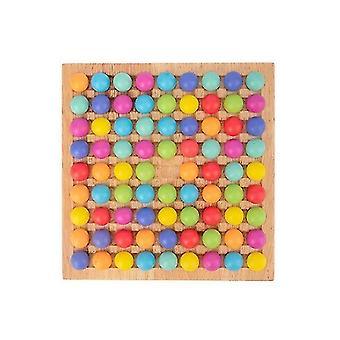 Voor puzzel speelgoed esthetische regenboog kleur matching spel kinderen hersentraining plezier puzzel bordspel WS25799