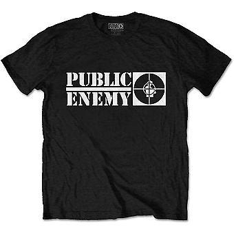 Public Enemy - Crosshairs Logo Unisex Large T-Shirt - Czarny