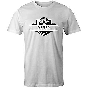 Sporting empire derby county 1884 established badge football t-shirt