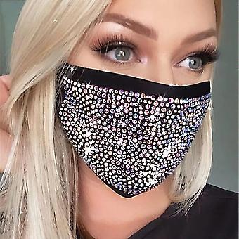 Black crystal masquerade face mask for female vintage party accessories mouth mask party nightclub jewelry gift fa1020
