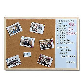 Whiteboard Cork Boards Combinatie 3:1 Droog Wipe Bulletin Tekentafel