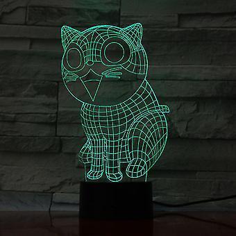 Cat Kitten 3d Led Night Light Kids Bedroom Table Lamp