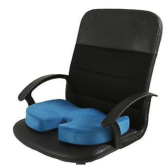 Cojín de asiento de espuma de memoria para asientos de coche, oficina en el hogar y Cojín de viaje (azul)
