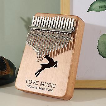 Thumb piano kalimba 17 keys high quality handguard wood mahogany mbira body musical instruments