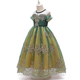 Frozen Anna Queen Children's Dress Princess Dress Cosplay Costume(120CM)