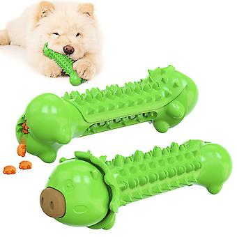 Pet Toothbrush Leaking Device Molar 3 In 1 Function For Dog Toys